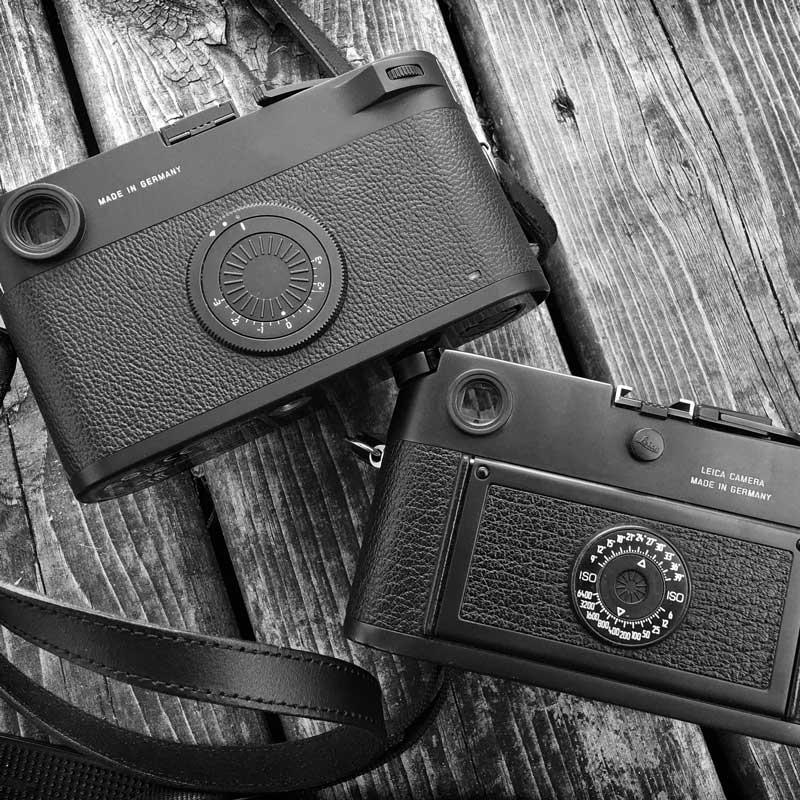 Leica M10-D and Leica M6 camera backs compared.