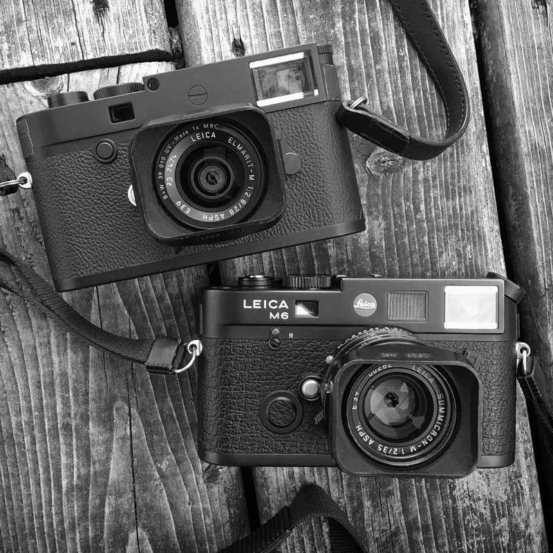 Leica M10-D and Leica M6 size compared.