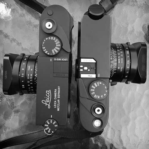 Leica M10-D and Leica M6 top view compared.