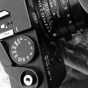 Leica M6 Shutter speed dial.