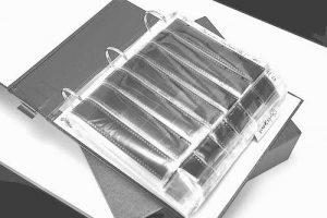 Black and white negative storage binder